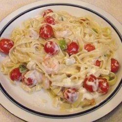 Healthy Shrimp and Pasta Alfredo