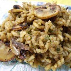 Mushroom Rice With Onion & Shallots