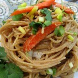 Piff-Paf-Poof Peanut Noodles With Shrimp