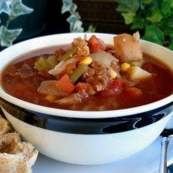 Aunt Gin's Vegetable Soup (Crock Pot)