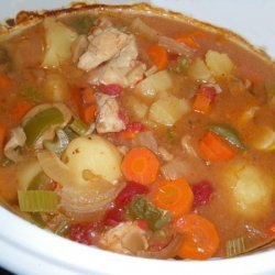Crock Pot Colorful Chicken Stew