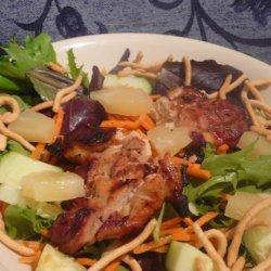 Hot Teriyaki Chicken Salad