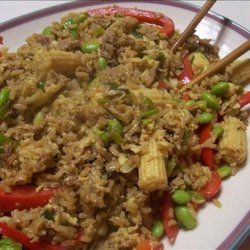 Honey & Garlic Duck Fried Rice recipe