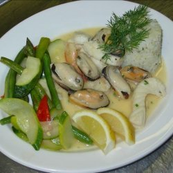Creamy Garlicy Seafood Marinara
