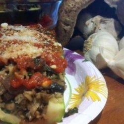 Mushroom and Spinach Stuffed Zucchini