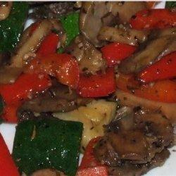 Grilled Herbed Mushroom Vegetable Medley