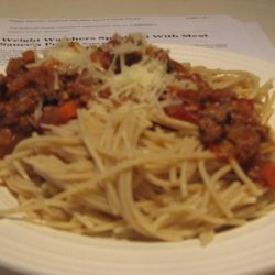 Weight Watchers Spaghetti With Meat Sauce 5 Points