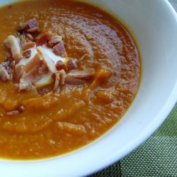 Curried Pumpkin, Kumera and Bacon Soup
