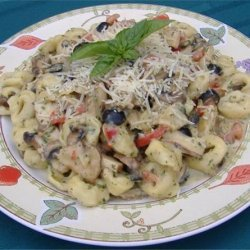 Pesto-Alfredo Cheese Tortellini W/ Grilled Chicken recipe