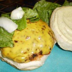 Smoky Beer Burgers With Creamy Mustard Sauce