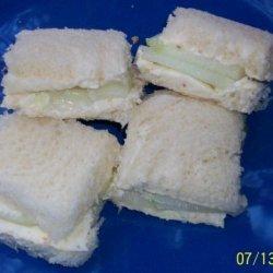 Cucumber and Cream Cheese Tea Sandwiches