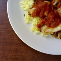 Kuwaiti Chicken and Rice With Daqoos - Garlic Tomato Sauce