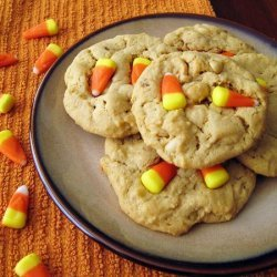 Candy Corn and Peanut Cookies
