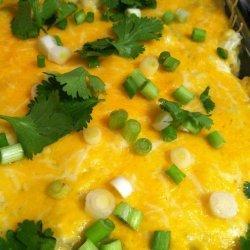 Cream Cheese Green Chicken Enchilada's