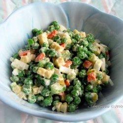 Easy Pea & Cheese Salad