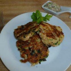 Salmon Potato Cakes with Mustard Tartar Sauce