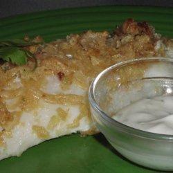 Sour Cream & Onion Baked Fish