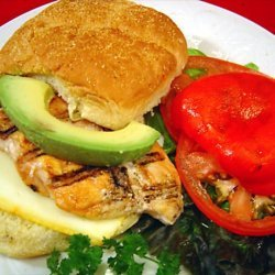 Chicken Breast With Roasted Red Pepper Sandwich