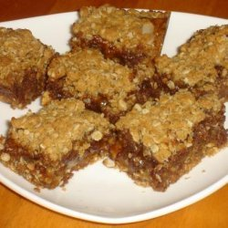 Chocolate Toffee Almond Squares recipe