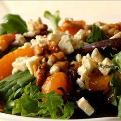 Toasted Walnut Salad With Mandarin Oranges and Gorgonzola Cheese