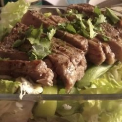 Seared Steak Salad With Edamame & Cilantro (With Variations) recipe