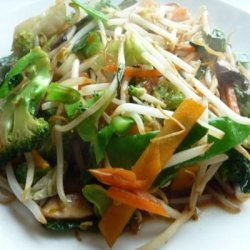 Stir-Fried Vegetables (Cabbage, Chinese Mushrooms, and Broccoli)