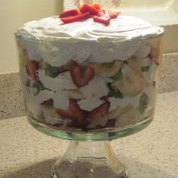 Fantastic Strawberry-Banana Trifle