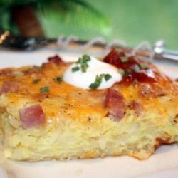Breakfast Hash Brown Quiche recipe
