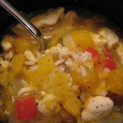 Spicy Chicken and Pumpkin Stew