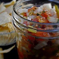 Homemade Salsa and Fried Tortilla Chips With Seasoning - Deen