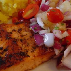 Grilled Cajun Salmon With Tomato Pineapple Salsa recipe