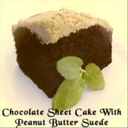 Chocolate Sheet Cake With Peanut Butter Suede