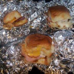 Hawaiian Bread Ham & Cheese Rolls