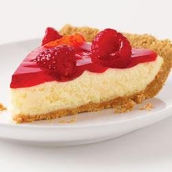 Raspberry Glace Cheesecake Pie recipe