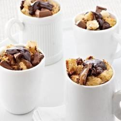 Caramel Dark Chocolate Mini Bread Puddings
