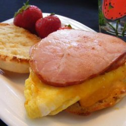 English Muffin, Canadian Bacon and Egg