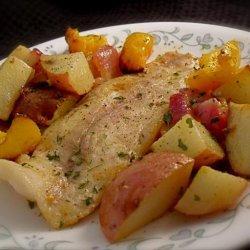 Tilapia and Ginger-Sesame Roasted Vegetables