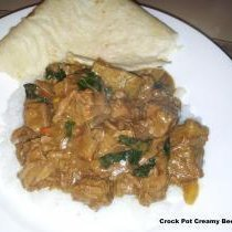 Crock Pot Creamy Beef Curry