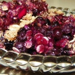 Wild Maine Blueberry Crisp