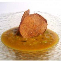 Leek & Delicata Squash Soup With Caramelized Apple Croutons