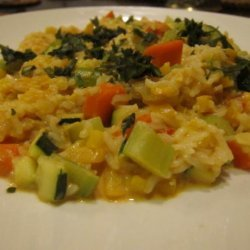 Vegetable Risotto with Curry Sauce