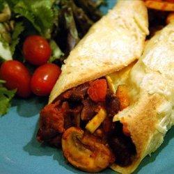 Sylvie's Vegetable Stuffed Tortillas