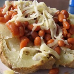 Baked Jacket Potato With Baked Beans and Cheese