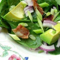 Beanshoot, Avocado & Baby Spinach Salad recipe