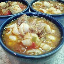 Sausage, Pasta & Bean Soup