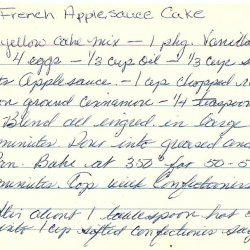 French Applesauce Cake