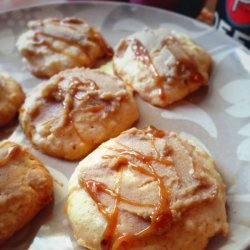 Caramel Frosted Apple Cookies