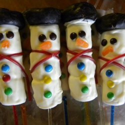 Snowman Bouquet or Pops recipe