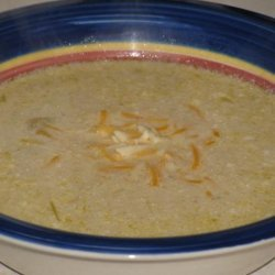 Crock Pot Potato Soup With Chilies and Cheese