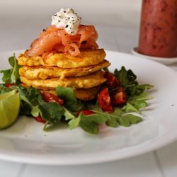 Salmon and Corn Fritters
